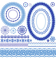 Set of blue Christmas frames vector image