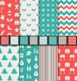 Set Seamless Textures for Winter Holidays vector image