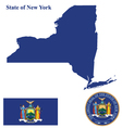 State of New York Flag vector image