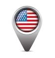 USA pointer flag vector image
