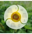 Crcle ecology infographic Nature blur background vector image