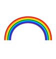 Rainbow icon cartoon 2 vector image