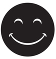 Black laughing happy smile vector image