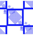 blue square seamless pattern vector image