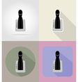 car equipment flat icons 04 vector image