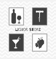 liquor store or bar posters vector image