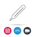 Medical thermometer icon Temperature sign vector image
