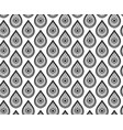 seamless monochrome pattern with drops vector image