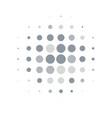 silver round halftone pattern design vector image