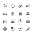 Simple News Icons vector image