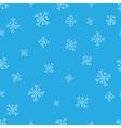 Snowflakes blue seamless pattern Snow christmas vector image