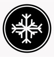 warning and danger sign of snow attention symbol vector image