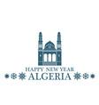 Greeting Card Algeria vector image