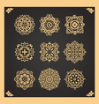 set of thai art design vector image