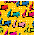 Comic style scooter pattern vector image