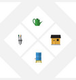 flat icon dacha set of pump stabling container vector image