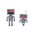 two vintage retro style robot characters vector image