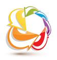 Infinite loop arrows abstract symbol graphic vector image vector image