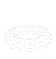 Wireframe Polygonal 3D Torus vector image vector image