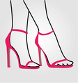 Legs of a woman wearing stilettos vector image vector image