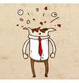 Bursting Head Cartoon vector image