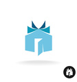 Books house idea logo template House building with vector image