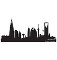 Riyadh Saudi Arabia skyline Detailed silhouette vector image