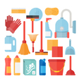 Cleaning service supplies vector image