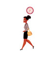 Black african american businesswoman going to vector image