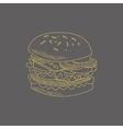 Burger Hand Drawn Sketch vector image