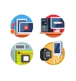 Computer device set vector image