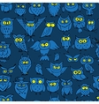 Funny owls seamless pattern for your design vector image