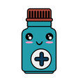 medicine drugs bottle kawaii cartoon vector image