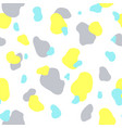 seamless pattern of yellow gray and mint spots vector image