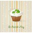 St Patricks Day background with cake vector image