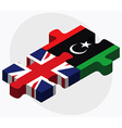 United Kingdom and Libya Flags vector image
