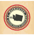 Vintage label-sticker cards of Washington vector image
