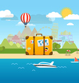 Summer seaside vacation vector image vector image