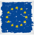 European grunge flag vector image vector image