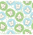 Seamless baby teeth care vector image