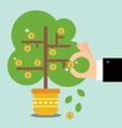 The money tree vector image vector image