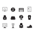 Silhouette Basketball and sport icons vector image vector image