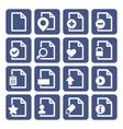 File Management Icons Set vector image
