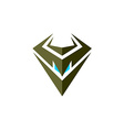 Evil robot head symbol vector image vector image