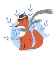 Funny foxy with scarf vector image