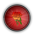 red rose on the round symbol vector image