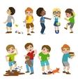 Mean Children vector image