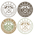 vintage grunge labels set of croquet country club vector image