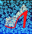 Background of high heel Shoes on beautiful vector image