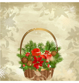 christmas baskets vector image